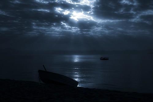 sky lake clouds dawn twilight quiet render peaceful manipulation malawi moonlight tranquil lightroom moonrays