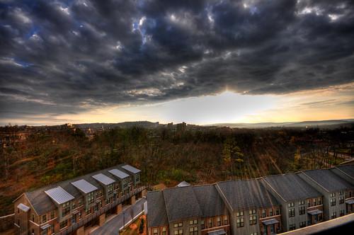 sun clouds sunrise arkansas rays fayetteville