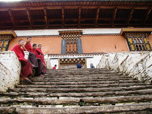 the entrance of dzong
