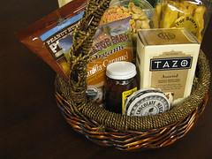 food, gift basket, basket,