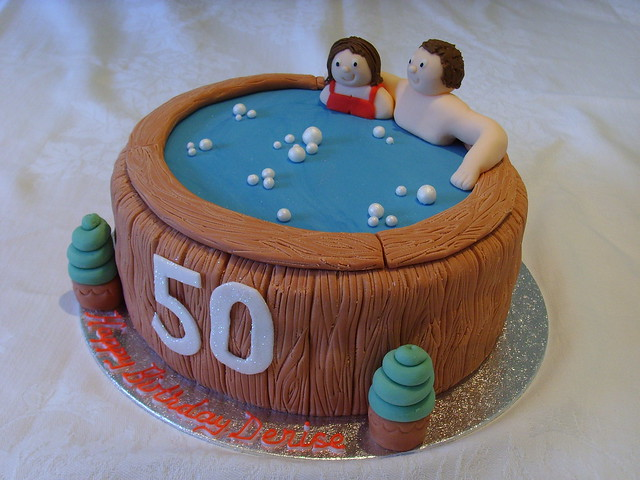 Hot Tub 50th Birthday Cake Flickr - Photo Sharing!