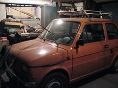 family car(0.0), compact sport utility vehicle(0.0), automobile(1.0), automotive exterior(1.0), vehicle(1.0), city car(1.0), fiat 126(1.0), land vehicle(1.0),