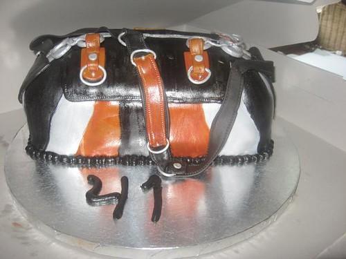 Harley Davidson Purse Cake