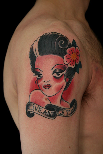 Pin up tattoo traditional flickr photo sharing for Traditional pin up tattoos