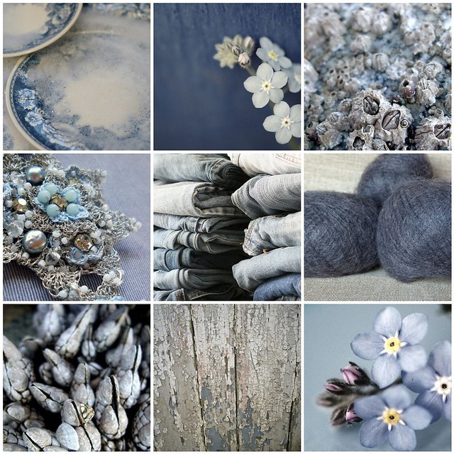 soothing blue, Flickr mosaic curated by emma lamb