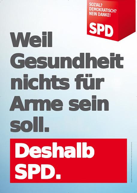 SPD-Plakat: Gesundheit