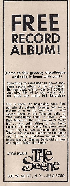 01/15/66 Steve Paul's The Scene Club, NYC, NY (Ad)