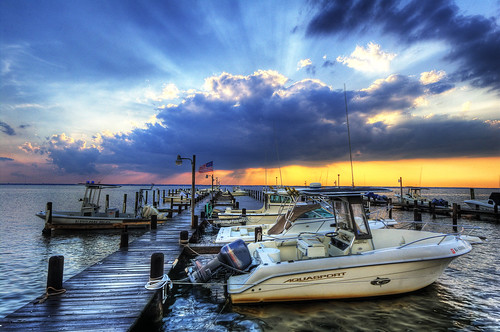 The Breathtaking Sunset down at the Dock l HDR