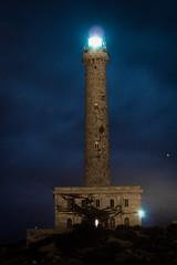 Faro de Cabo de Palos de noche
