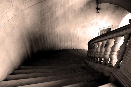 sepia escalera poesia salva peldaños garbanzo1971