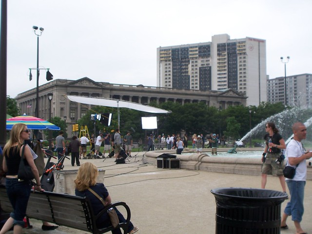 the outdoor set at logan square