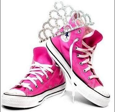 Pink Princess Converse