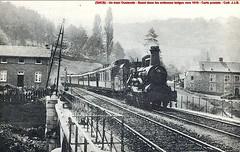 Belgique - Train Oostende - Basel vers 1910 dans les Ardennes - CP - Coll: J.J.B.