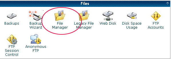 Hostgator File Manager