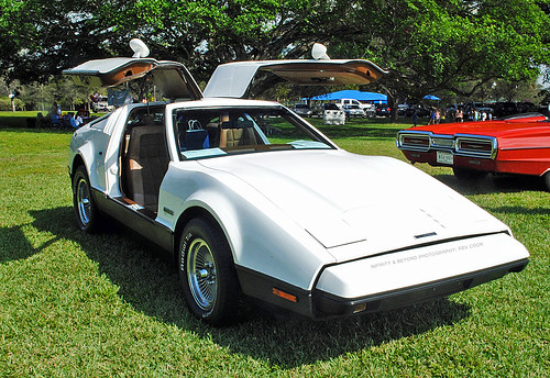 white sports car doors bricklin gullwing sv1 worldcars
