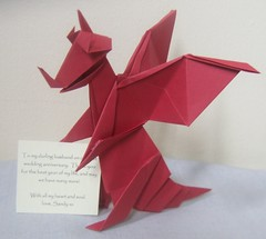 Paper Red 93 Photos | Origami Red Welsh Dragon | 585