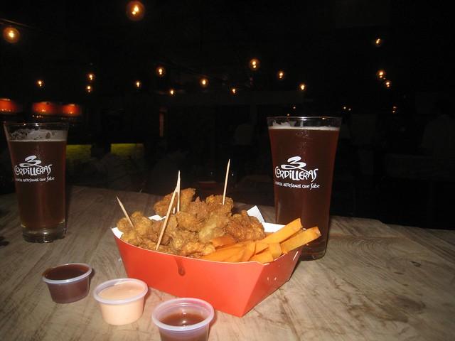 Beer and bar food