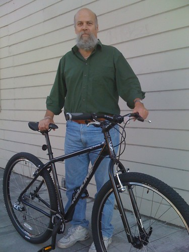 "Mr. E and his BRAND NEW 19"" Redline D440 29er"