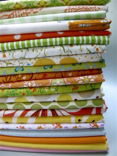 happy happy fabric stack.