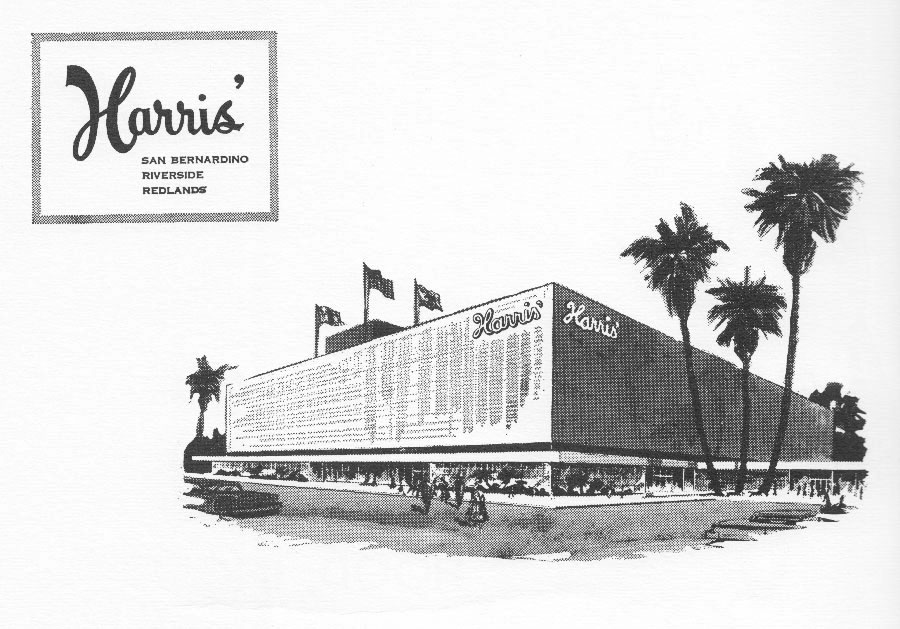 Harris' - Riverside Plaza - Riverside, California USA - high school yearbook advertisement - 1964