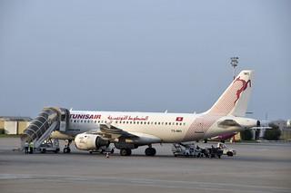 Un Airbus A319 de Tunisair