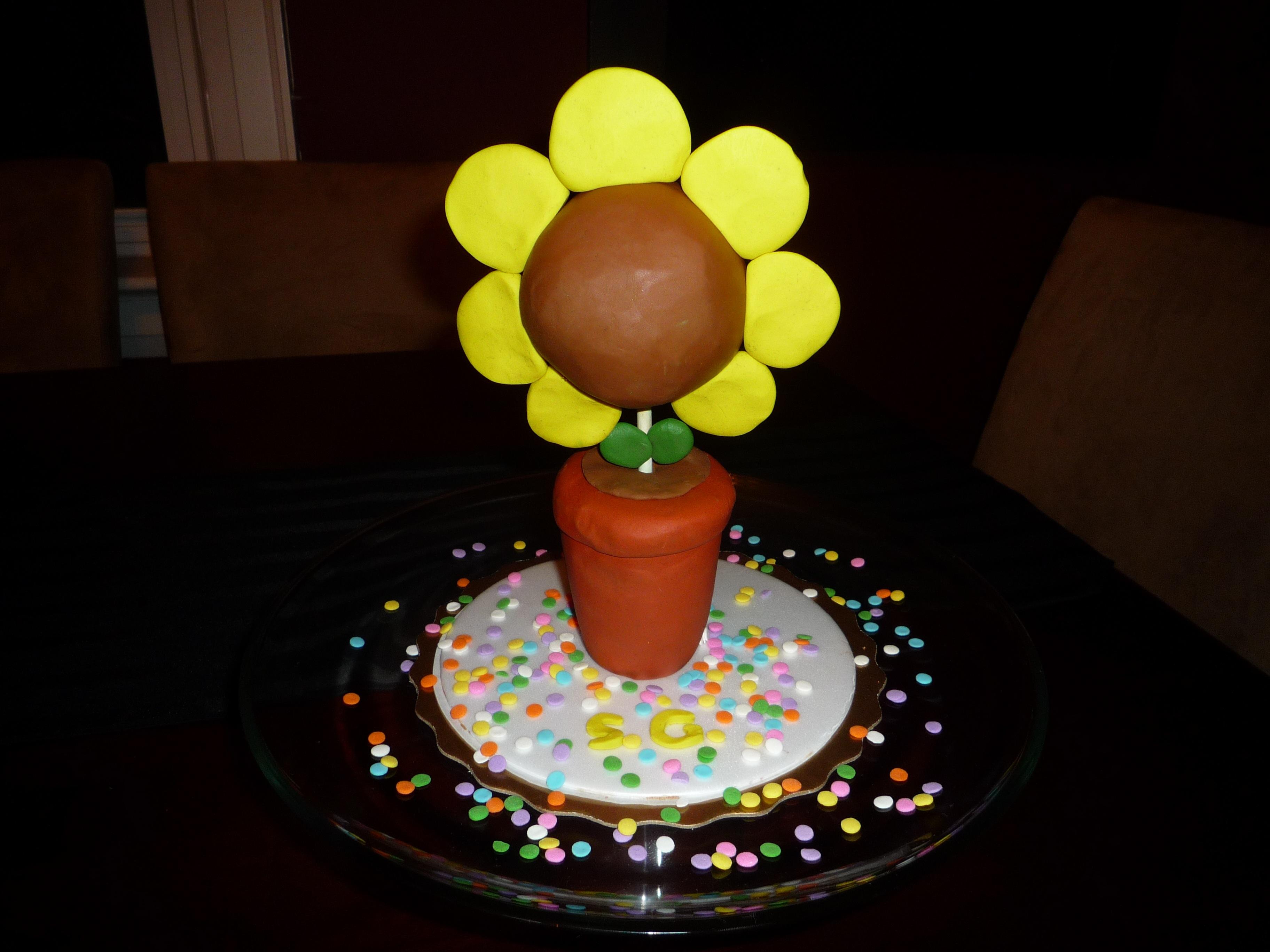 Sunflower Shaped Birthday Cakes