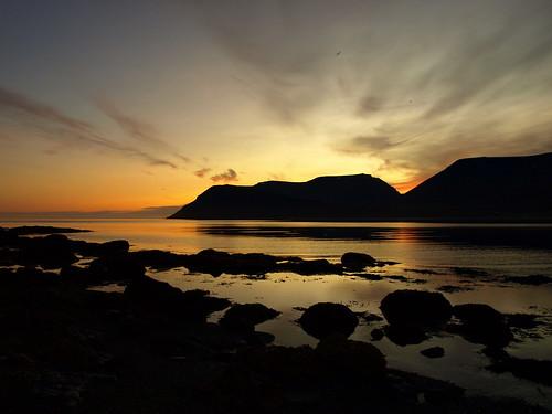 sunset sky seascape silhouette clouds landscape iceland silhouettes atlanticocean midnightsun cloudscapes vestfirðir westfjords dýrafjörður skycloudssun platinumheartaward þingeyri spiritofphotography skagafjall