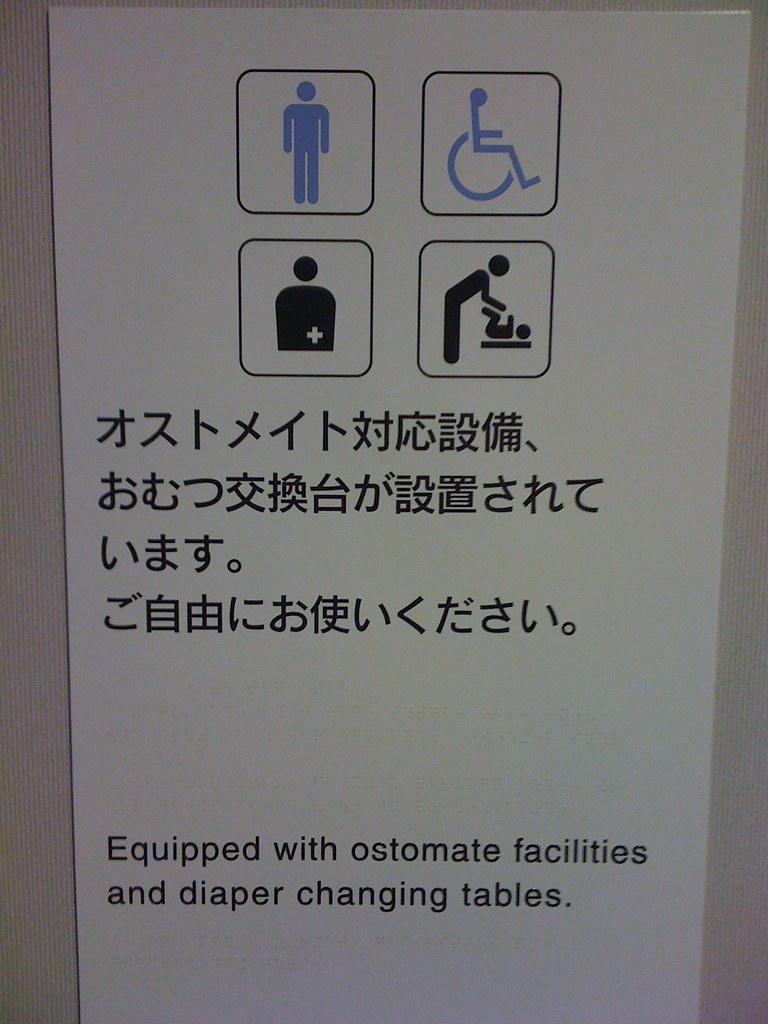"""Equipped with ostomate facilities"""