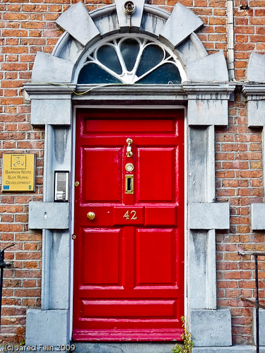 door kilkenny ireland red color colour sewerdoc ©jaredfein