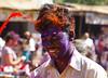Holi festival in Hampi, Karnataka state, India