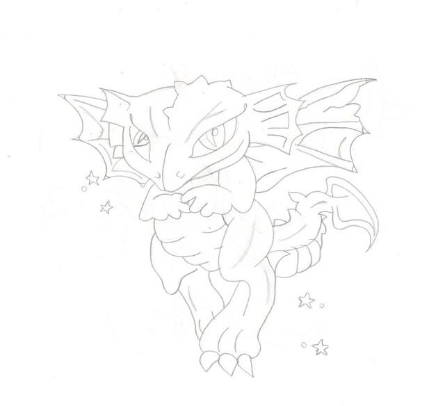 dragon & stars