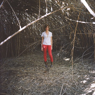 Laura in the Arundo Donax Cave