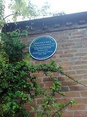 Photo of J. R. R. Tolkien, Matthew Boulton, and Sarehole Mill blue plaque