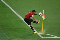 goalkeeper(0.0), soccer-specific stadium(0.0), tackle(0.0), goal(0.0), football player(1.0), ball(1.0), soccer kick(1.0), kick(1.0), sports(1.0), player(1.0), football(1.0), ball(1.0),