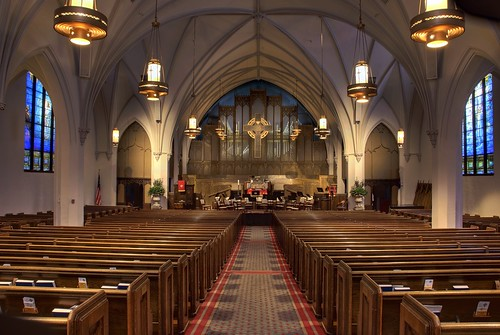 The Sanctuary of First Presbyterian Church of Flint