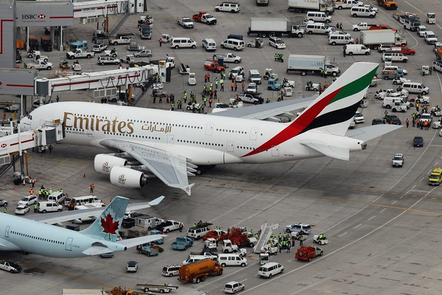 Emirates Airbus A380 Arrives in Toronto