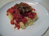 Couscous Tomatoes and Balsamic Onions
