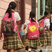 School Girls Carrying Bags - Ataco, El Salvador