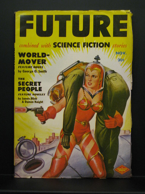 Pulp sci fi cover at the Maison d'Ailleurs
