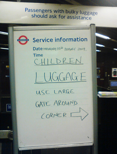 Children & Luggage use large gate