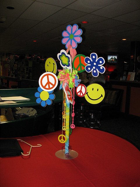 60s Theme Hippy Love Centerpiece Flickr Photo Sharing