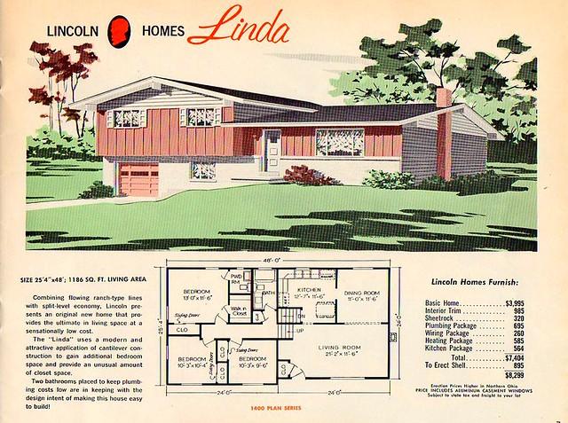 Split level house plans 1960s the split level house plan for Split level house plans 1960s