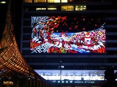 signage, led display, display device, flat panel display, night,