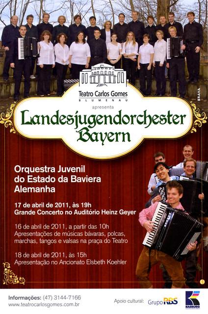 Plakat Konzertankündigung LJAO Bayern Blumenau 17.04.2011