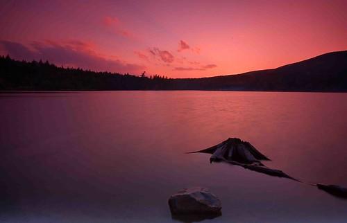 sunset lake canon south north catskills waterfallguy