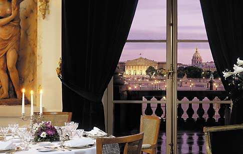View, Hotel de Crillon