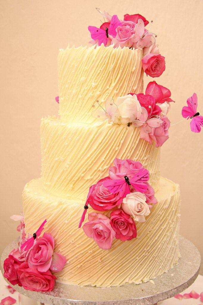 3 tier Wicked chocolate wedding cake with white chocolate ganach ...