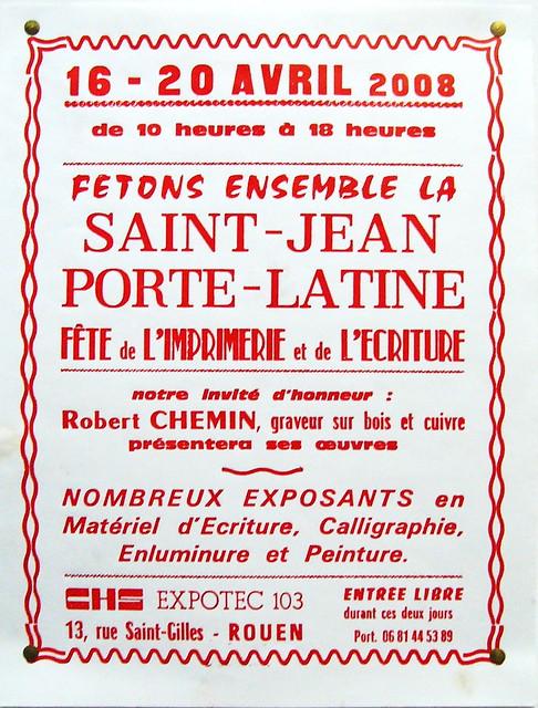 Affiche pour la f te de la saint jean porte latine for Porte latine