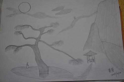 铅笔画 手绘动物_绘画分享