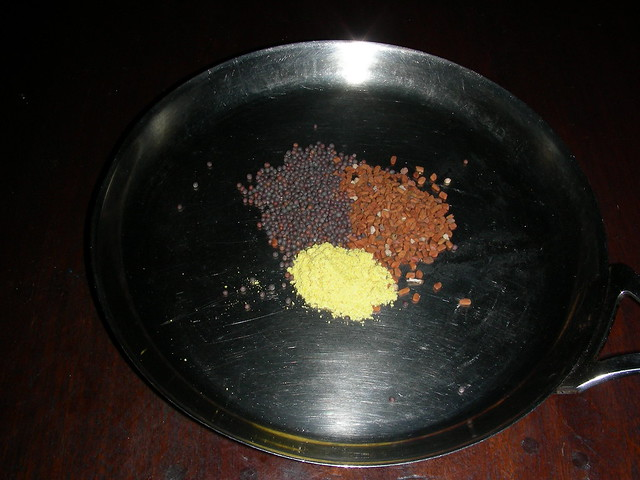 Asafoetida (Hing), Black Mustard and Methi (Funegreek) seeds